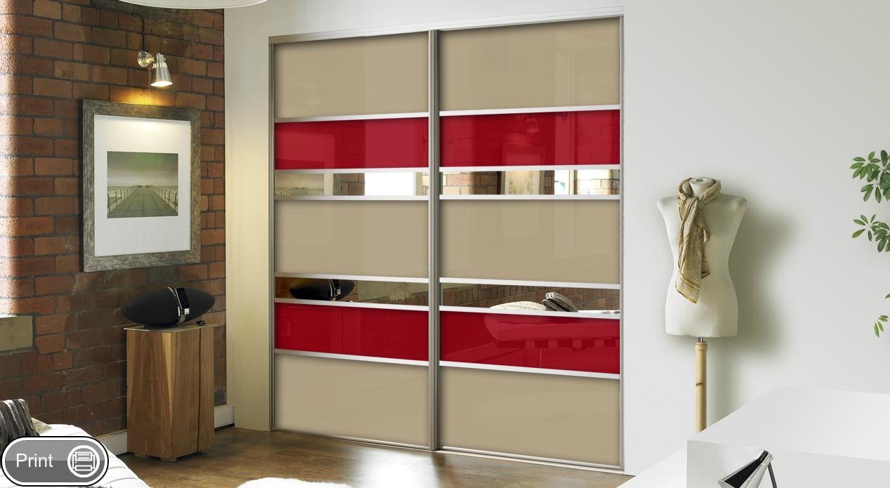 Gardr bszoba bels berendez s for 4 door wardrobe interior designs